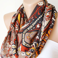 Infinity Scarf Loop Scarf Circle Scarf Cowl Scarf Soft handmade from pasley design linen