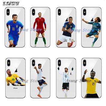 Barcelona messi Dybala Cristiano ronaldo Neymar Salah Hard plastic Phone Case for iPhone X 10 5 5S SE 6 6S 7 8 Plus Coque Cover