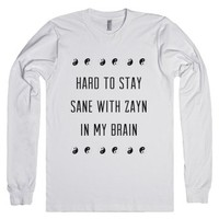 insane for zayn-Unisex White T-Shirt