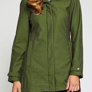 Whitney Rain Style Jacket in Evergreen
