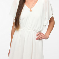 Urban Outfitters - Lucca Couture Chiffon Flutter Sleeve Dress