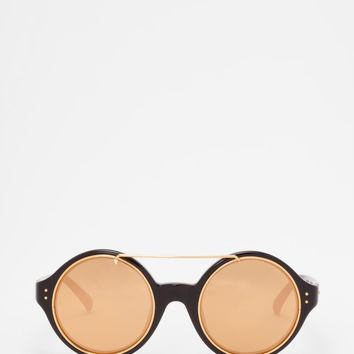 Linda Farrow - LFL 376 Black Sunglasses