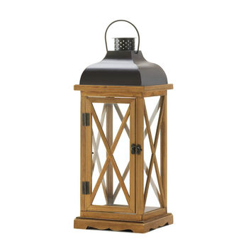 Hayloft Large Wooden Candle Lantern