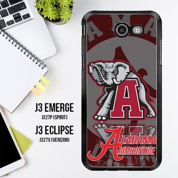 Alabama Crimson Tide X3309 Samsung Galaxy J3 Emerge, J3 Eclipse , Amp Prime 2, Express Prime 2 2017 SM J327 Case
