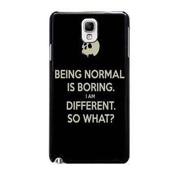 NORMAL IS BORING QUOTES Samsung Galaxy Note 3 Case Cover