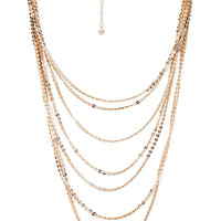 FOREVER 21 Shimmer & Shine Layered Necklace Gold One