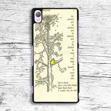 winnie the pooh book and tree Sony Xperia Case, iPhone 4s 5s 5c 6s Plus Cases, iPod Touch 4 5 6 case, samsung case, HTC case, LG case, Nexus case, iPad cases