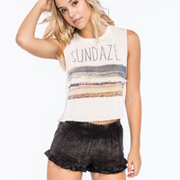 FULL TILT Sundaze Womens Crop Muscle Tank | Graphic Tanks