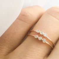 Rose Gold Trio Ring