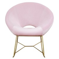 Nolan Blush Velvet Chair