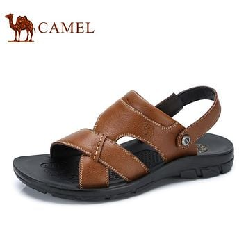 Camel men's shoes 2017 summer new male sandals beach shoes men breathable leather open-toed sandals A722287912