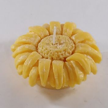 Natural Palm Wax Floating Sunflower Candle