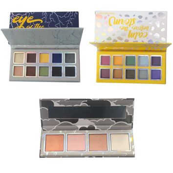 Weather Collection Storm Highlighter Eyeshadow Palette Maquiagem Profissional Completa Eyeshadow Pallete Sombra Makeup Set