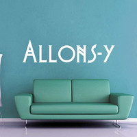 Allons-y - Doctor Who Wall Decal