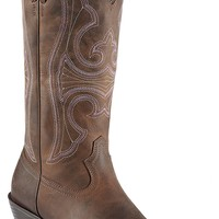Ariat® Round Up™ Women's Distressed Brown Snip Toe Western Boot