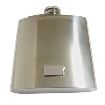 Pennsylvania State Map Shape 6 Oz. Stainless Steel Flask