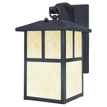 One-Light Outdoor Wall Lantern with Dusk to Dawn Sensor