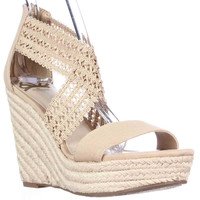 Fergalicious Vanessa Woven Wedge Espadrille Sandals - Natural