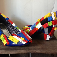 Quirky Lego high heel shoes by lilyrain010 on Etsy