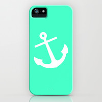 Mint Anchor iPhone & iPod Case by M Studio