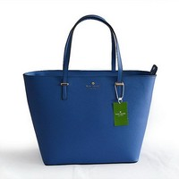 2018 Kate Spade New York Women Fashion Shopping PU Tote Handbag Shoulder Bag Color Blue