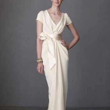 Crepe De Chine Column Gown in  the SHOP Collections Vintage at BHLDN