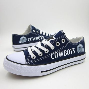 Gzpw 2018 New football team Canvas shoes giants packers steelers 49ers cowboys Can Customizing any LOGO
