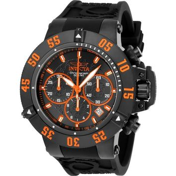 Invicta Men's 22923 Subaqua Quartz Chronograph Black, Orange Dial Watch