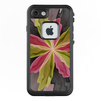Joy, Pink Green Anthracite Fantasy Flower Fractal LifeProof® FRĒ® iPhone 7 Case