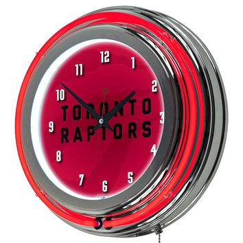 Toronto Raptors Game Room Premium Neon Clock