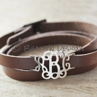 Custom Alloy Monogram Bracelet