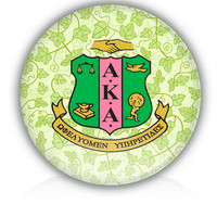 "AKA 3"" magnet - Alpha Kappa Alpha Sorority Shield & Ivy"