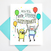 Happy Birthday Adventure Time Card