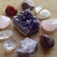 Amethyst Crystal Collection Amethyst Geode Healing Crystals and Stones Stone Collection Crystal Set Crystal Display Quartz Collection