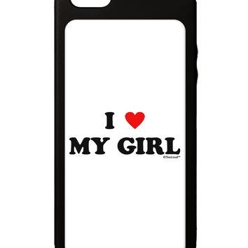 I Heart My Girl - Matching Couples Design iPhone 5C Grip Case  by TooLoud