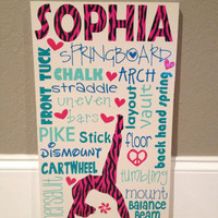 Personalized Wooden Sign Gymnastics, Cheer, or Dance