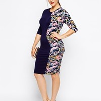 Club L Plus Size Side Panel Midi