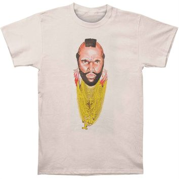 Mr. T Men's  Chain Of Fool T-shirt Silver