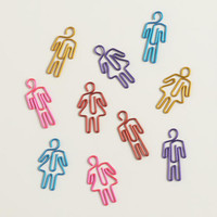 People-Shaped Paper Clips, 20-Pack - World Market