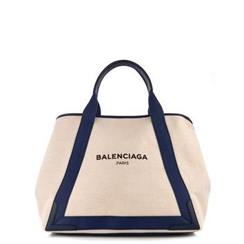 Navy Cabas M cotton-canvas shopper