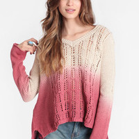 Nameless Face Dip Dye Jumper by Somedays Lovin - $80.00 : ThreadSence, Women's Indie & Bohemian Clothing, Dresses, & Accessories