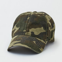 AEO Blank Camo Dad Hat, Camo Green