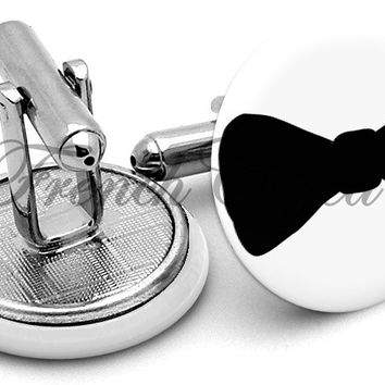 Bow Tie Black Cufflinks