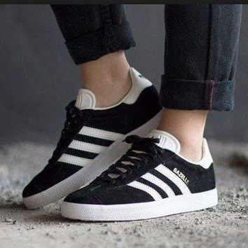 Best Online Adidas Originals Wmns Gazelle Black / White / Gold Metallic Sneakers Classic Casual Shoes - Bb5476 - Beauty Ticks