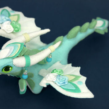Soft toy dragon fantasy plush animal textile toys Soft sculpture children, fabric toy, handmade, favorite toy