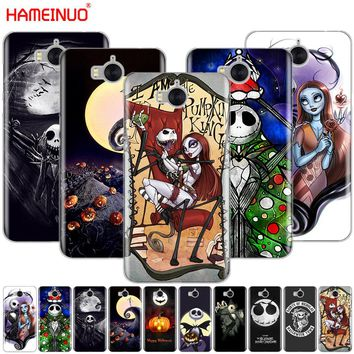 HAMEINUO Nightmare Before Christmas alloween cell phone Cover Case for huawei honor 3C 4X 4C 5C 5X 6 7 Y3 Y6 Y5 2 II Y560 2017
