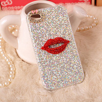 Promotion Sexy Bling Lips phone case Cover for iPhone 6 6s 5 5s 6plus 6s plus