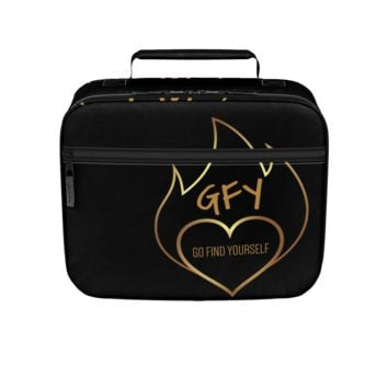 GFY Black and Gold Lunch Box