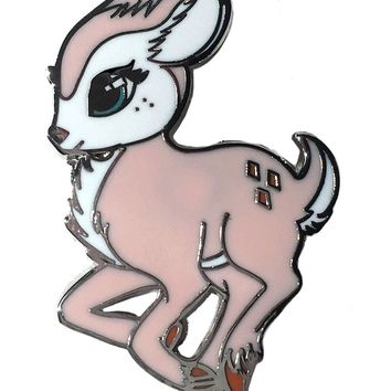 Fearless Illustration Faline Pin Badge | Attitude Clothing