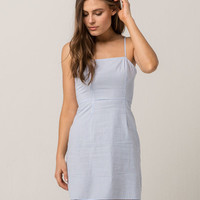 IVY & MAIN Stripe Light Blue Tank Dress